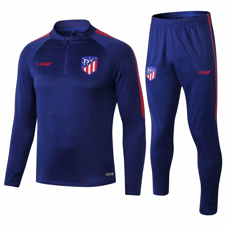 da3cc4fee 2018 19 Men Atletico Madrid Tracksuit Soccer Training Suit Adult Football  Jacket Soccer Wear