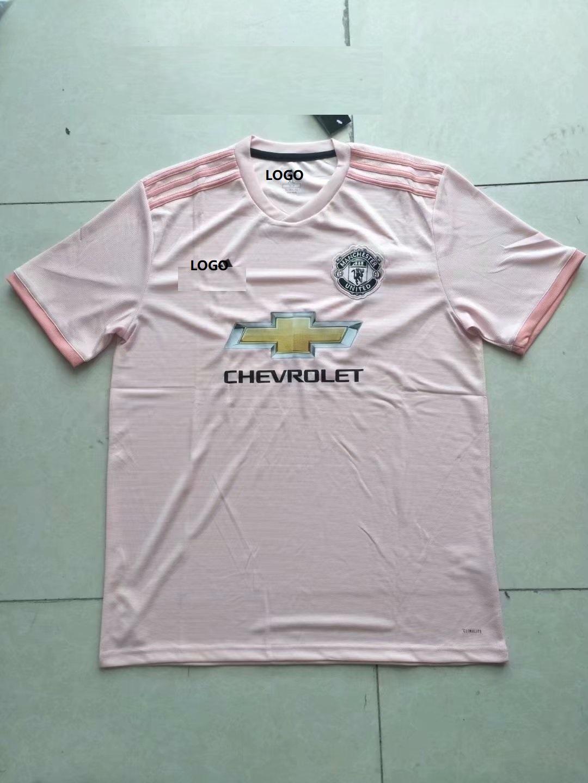 39deeabb357 Thailand Manchester United Away Pink Soccer Jersey Shirt Item NO  561213