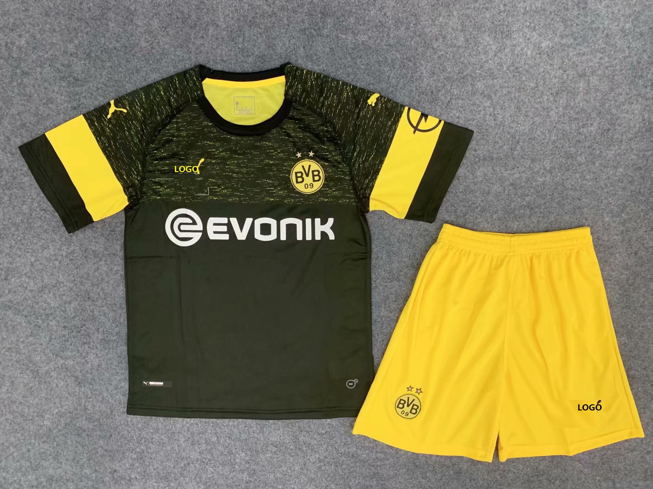 huge discount 2d6fd 32c57 2018/19 Adult Borussia Dortmund Football Uniforms Men Black Away Soccer  Jerseys Kits