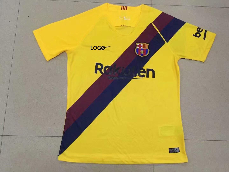 the latest f8553 51a0c 2019/20 Men Thai Barcelona Away Yellow Shirt Adult Fan Version New Kits