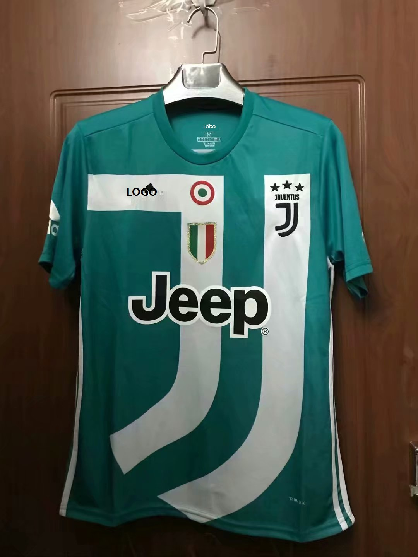 a9459cedb76 18 19 Thailand Quality Adult Juventus Green Soccer Jersey Men Football Shirt  Commemorative Version Item NO  561834