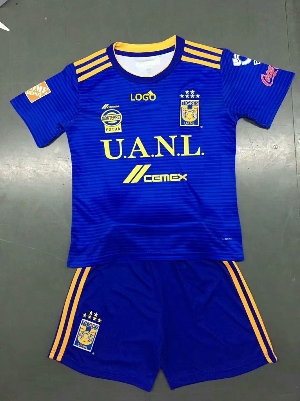 915e16225 2018 19 Kids Tigres UANL Soccer Jerseys Uniforms Football Kits For Boy  Jersey Camisas De Futebol Item NO  562421