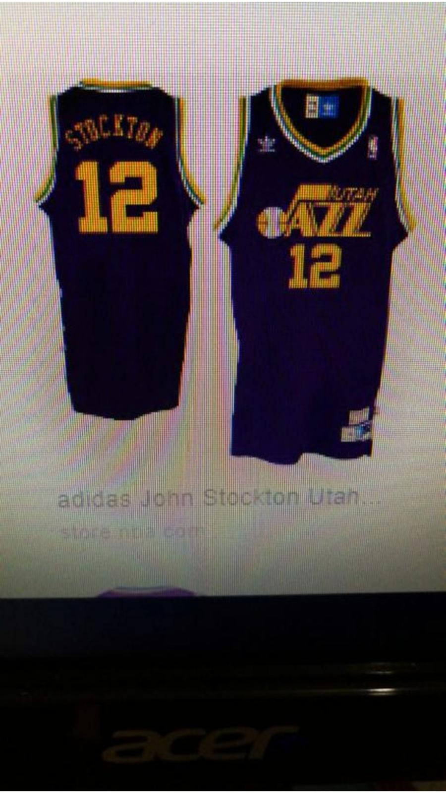 new styles 7a9af c0a4b John Stockton Utah Jazz #12 Purple Soul Swingman Road Jersey