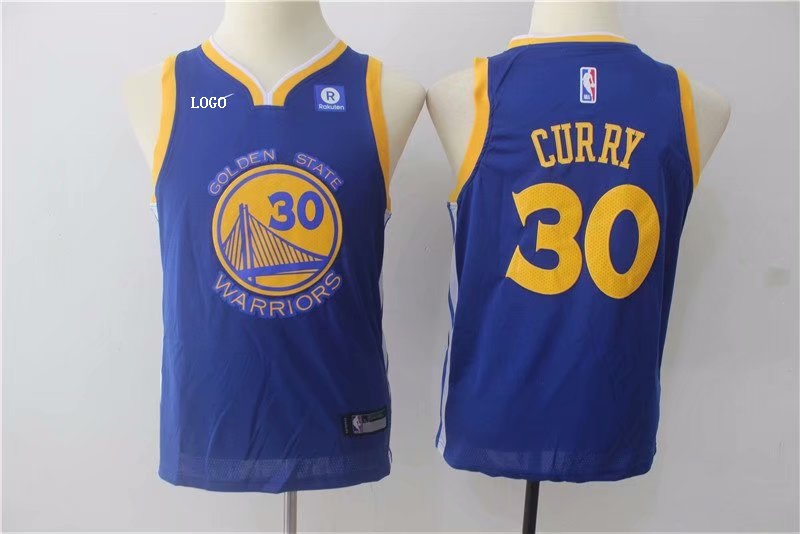 low priced 3b149 1f9fb Kids Golden State Warriors Stephen Curry #30 Road Jersey (Blue)