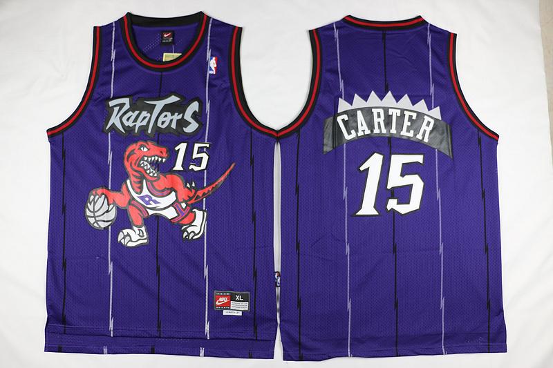 los angeles 343ce 32185 Toronto Raptor Vince Carter Dinosaur Purple Shirt 15 Basketball Jersey