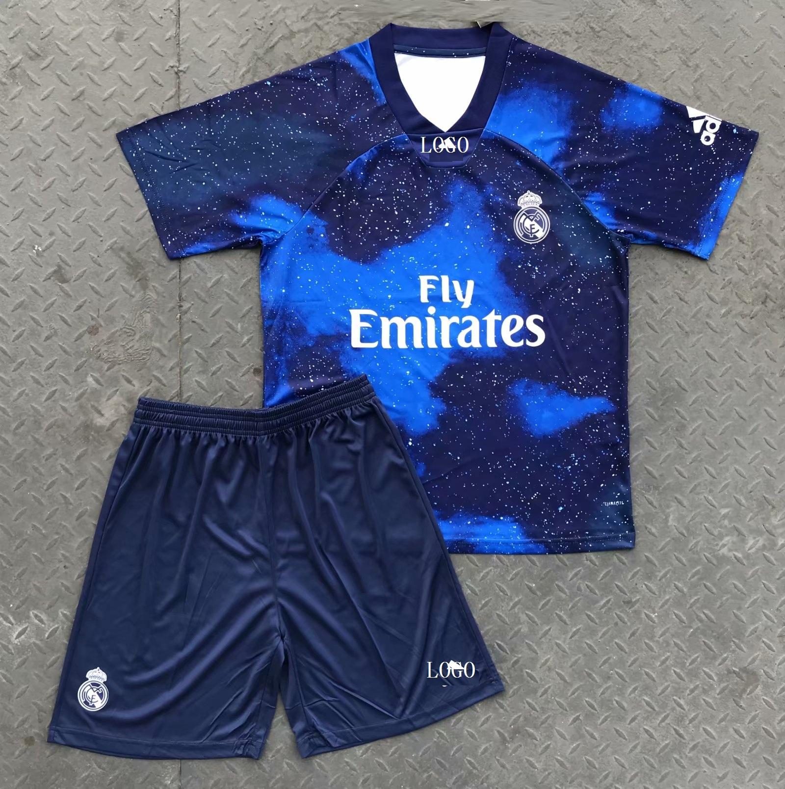 super popular 059a8 9afea 2018/19 AAA Adult Real Madrid EA Sports Soccer Uniforms Men Football Kits