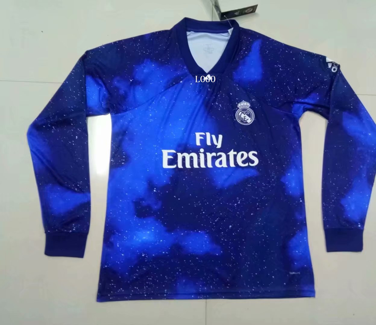 34e8b629ed7 2018 19 Adult Real Madrid EA Sports long sleeve soccer jersey football shirt  Item NO  566290