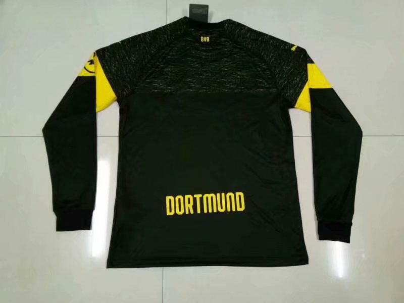 c5a15de16 2018-19 Adult Borussia Dortmund Football Uniforms Men Black Away Soccer  Jerseys Long sleeve football shirt Item NO  566291