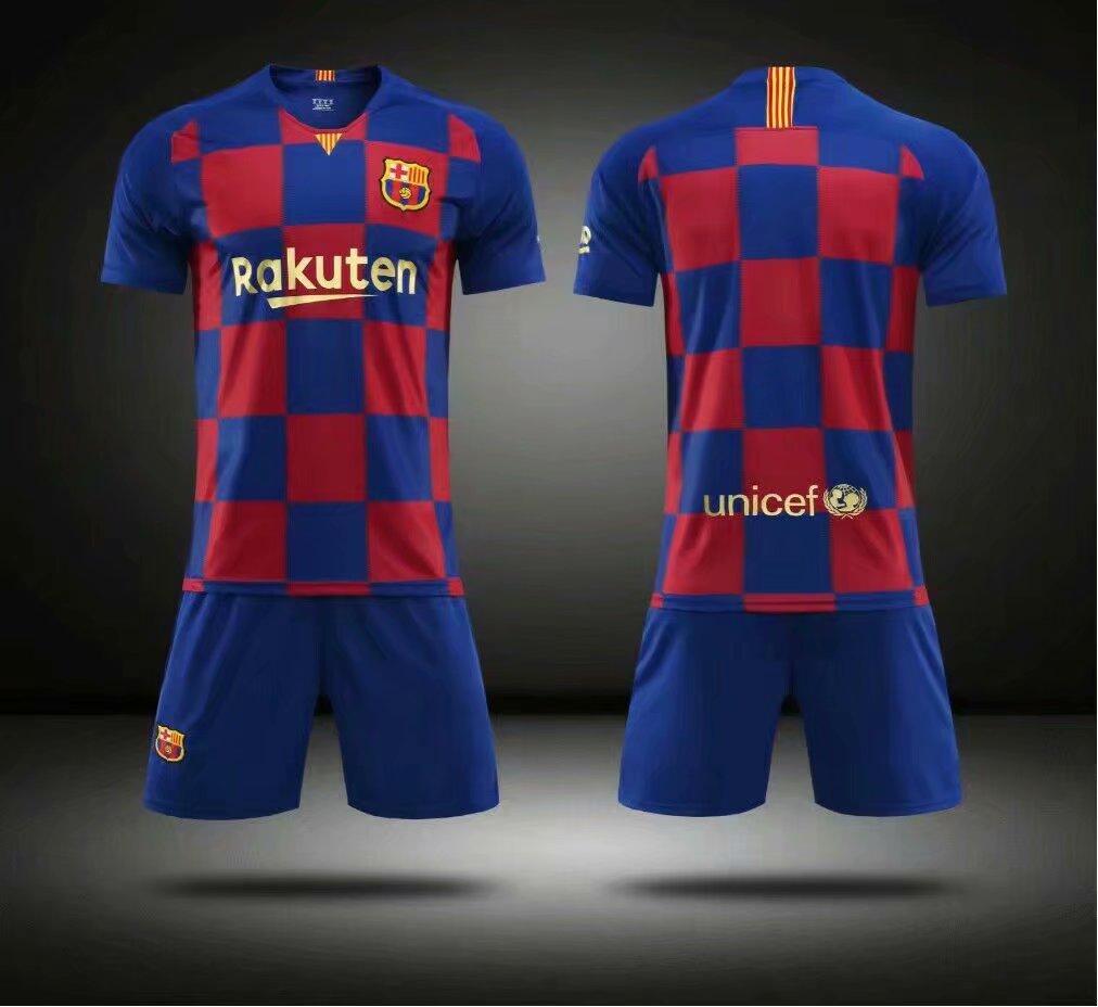 watch 6c621 e0d56 Without Logo 2019/20 Kids limited Barcelona Soccer Uniform Children  Football Kits