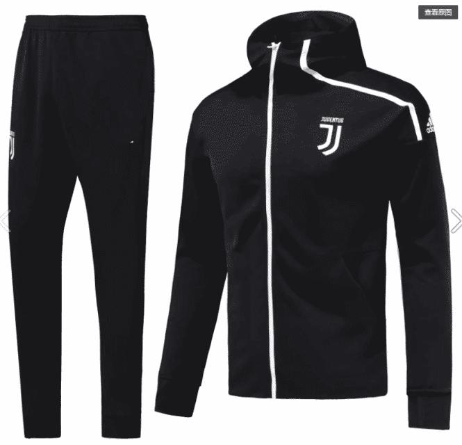 huge discount 94c9f b21a1 2019-20 Juventus Soccer Jacket Black
