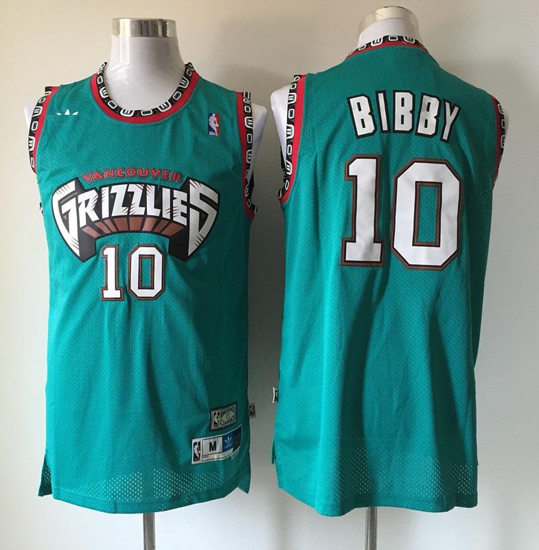 the latest d5e1f 955a4 grizzlies bibby green basketball jersey