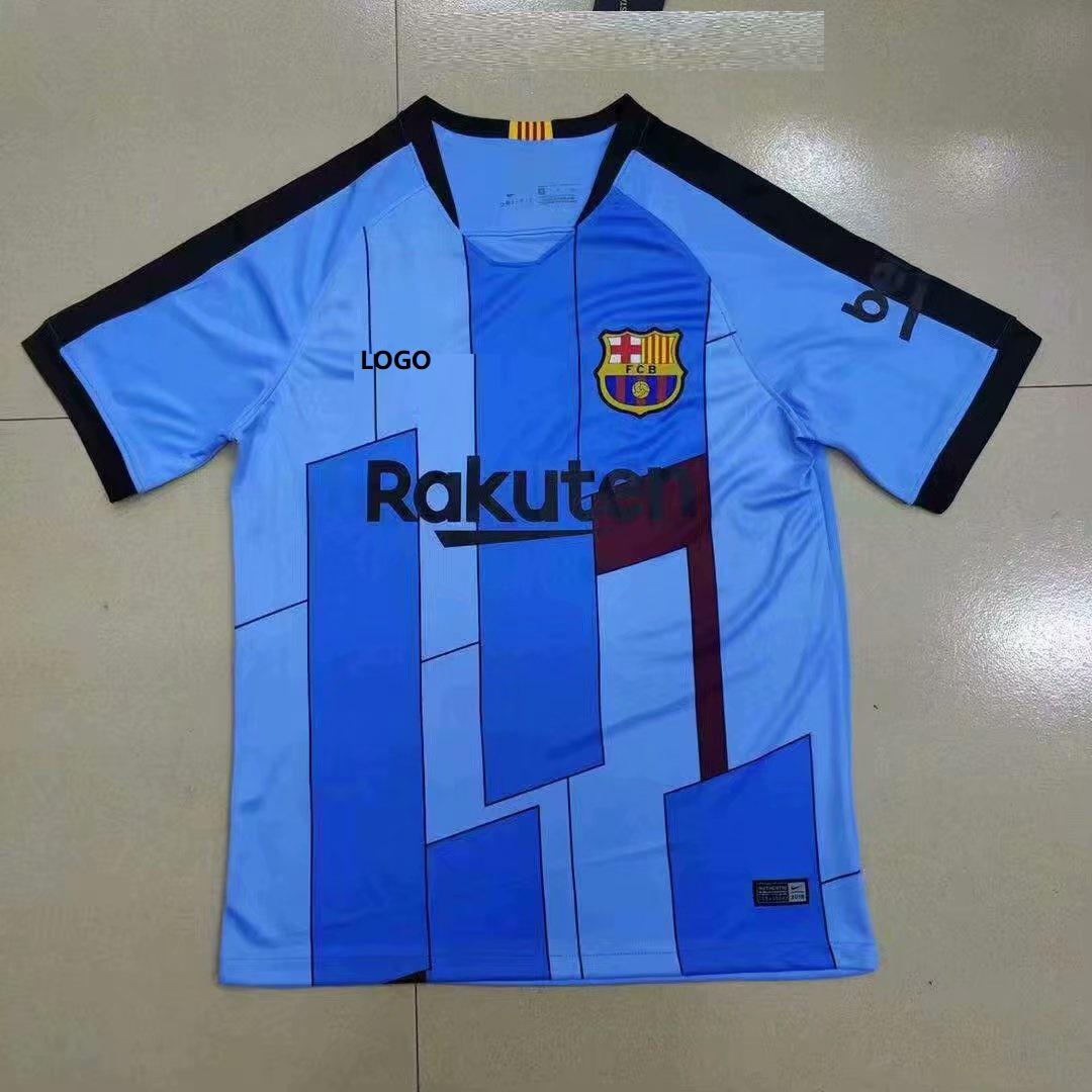 size 40 871e5 72d3a 2019-2020 Thai Quality With Logo Barcelona Soccer Jersery Men Football Shirt
