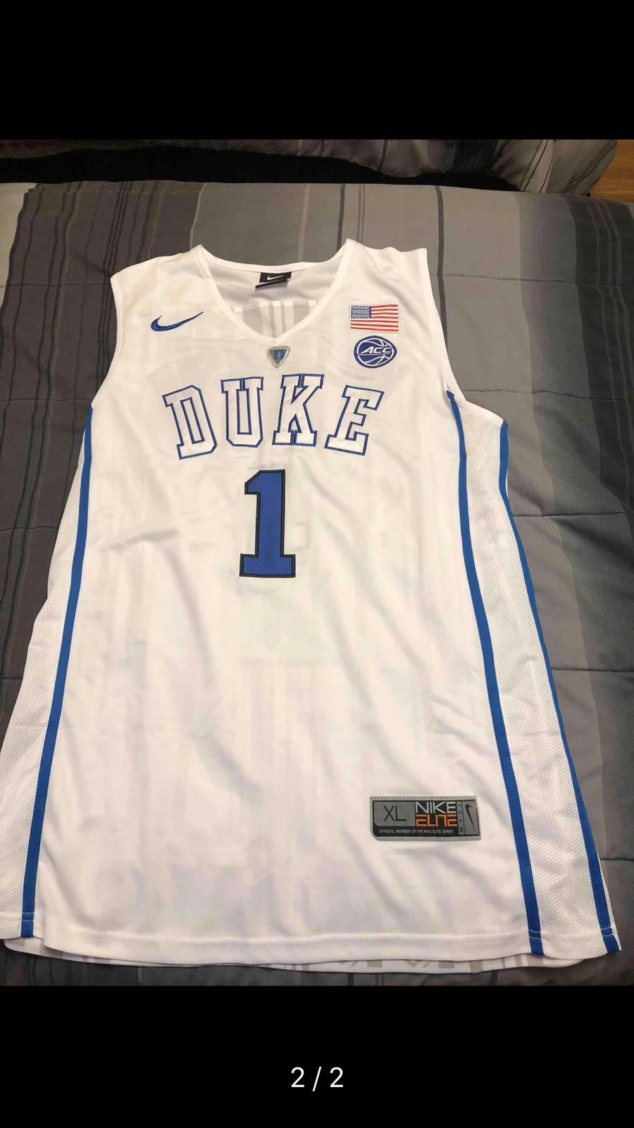 new products fd153 afac6 2018 Men #1 Zion Williamson Duke Blue Devils College Basketball Jerseys  Sale-White