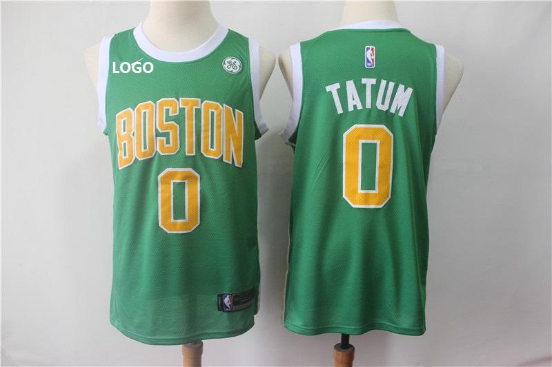 new style b669c e26df 2019Adult #0 Tatum boston Earned Basketball Jersey (stitched)
