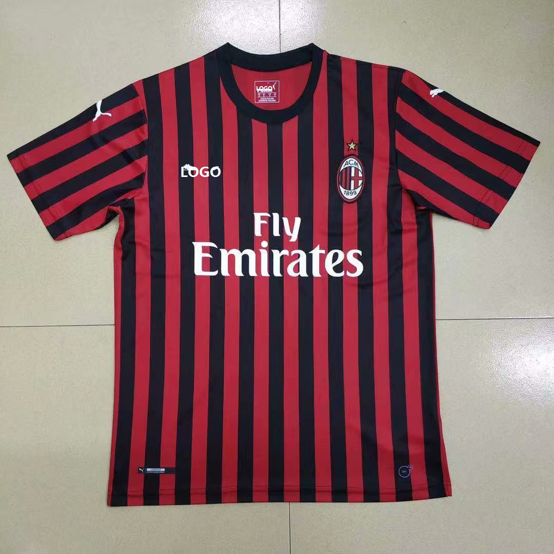 9eb64b02cbe 2019/20 Men's Thai Quality AC Milan Home Soccer Jersey