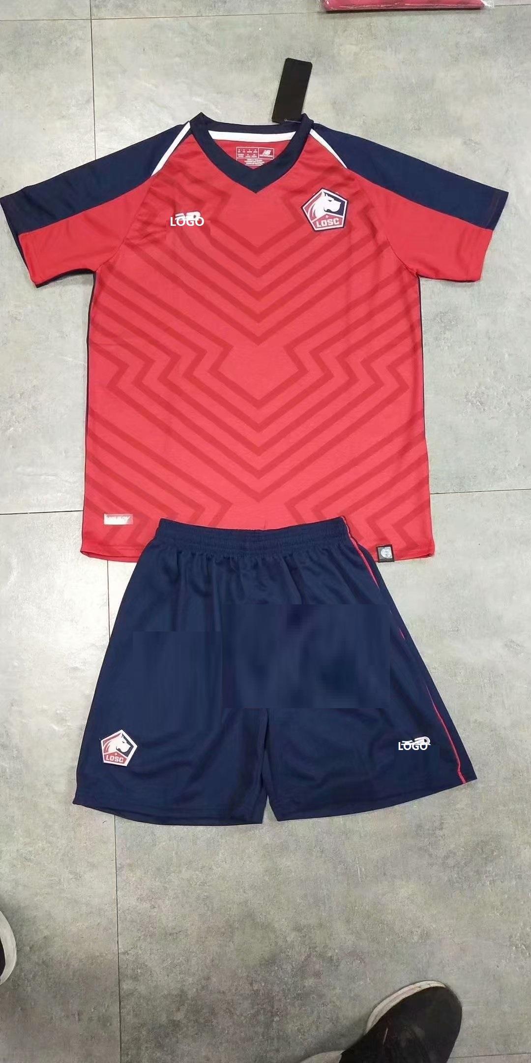 d8352efae 2019 Men Lille Home Soccer Uniforms
