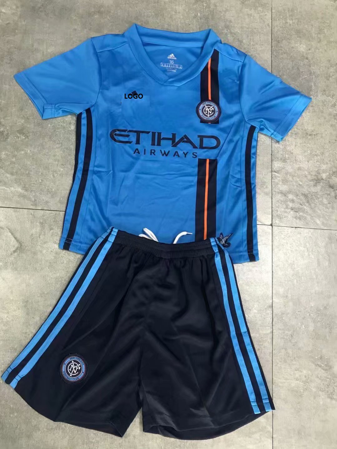 new arrival 8fc54 8e360 2018-19 Adult New York City FC Home Jersey Uniforms Blue Football Kits