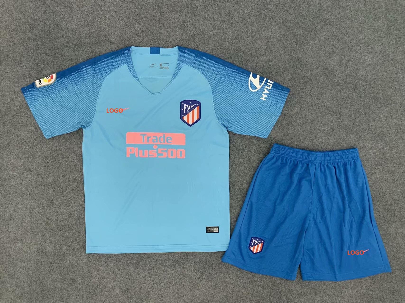 2019 20 AAA Adult Atletico Madrid Away Blue Soccer Jersey Uniform Men  Football Kits 261cecbdd
