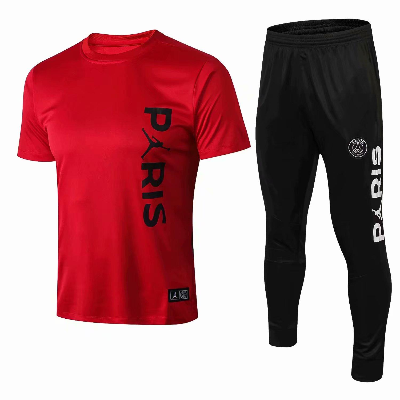 a3e1a2df8819c1 2018-2019 Paris Jordan Red Training Short T Shirt And Long Pant Suits Kit Item  NO  574415