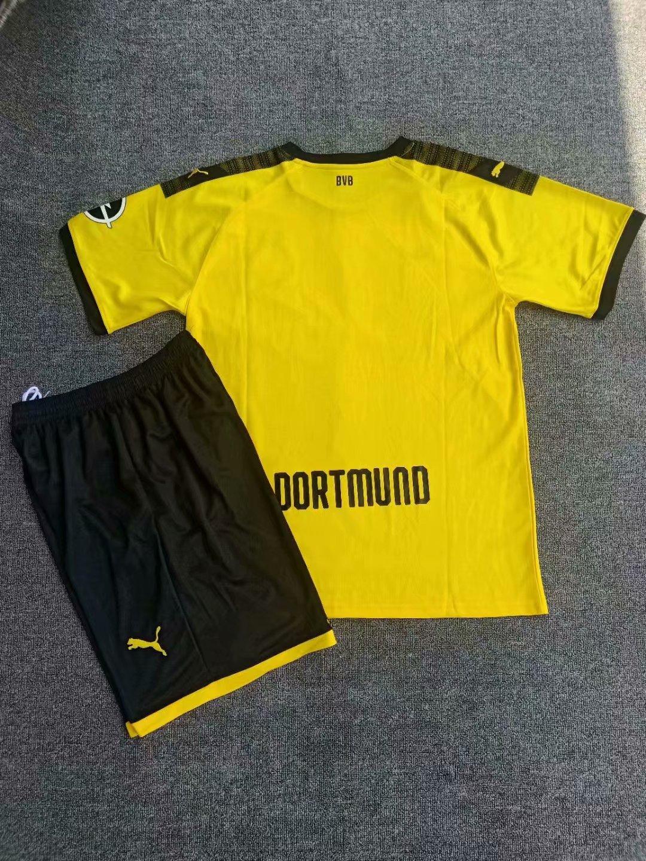 4e25cc3f333 19/20 Men Dortmund Home Soccer Uniform Kit Item NO: 575346