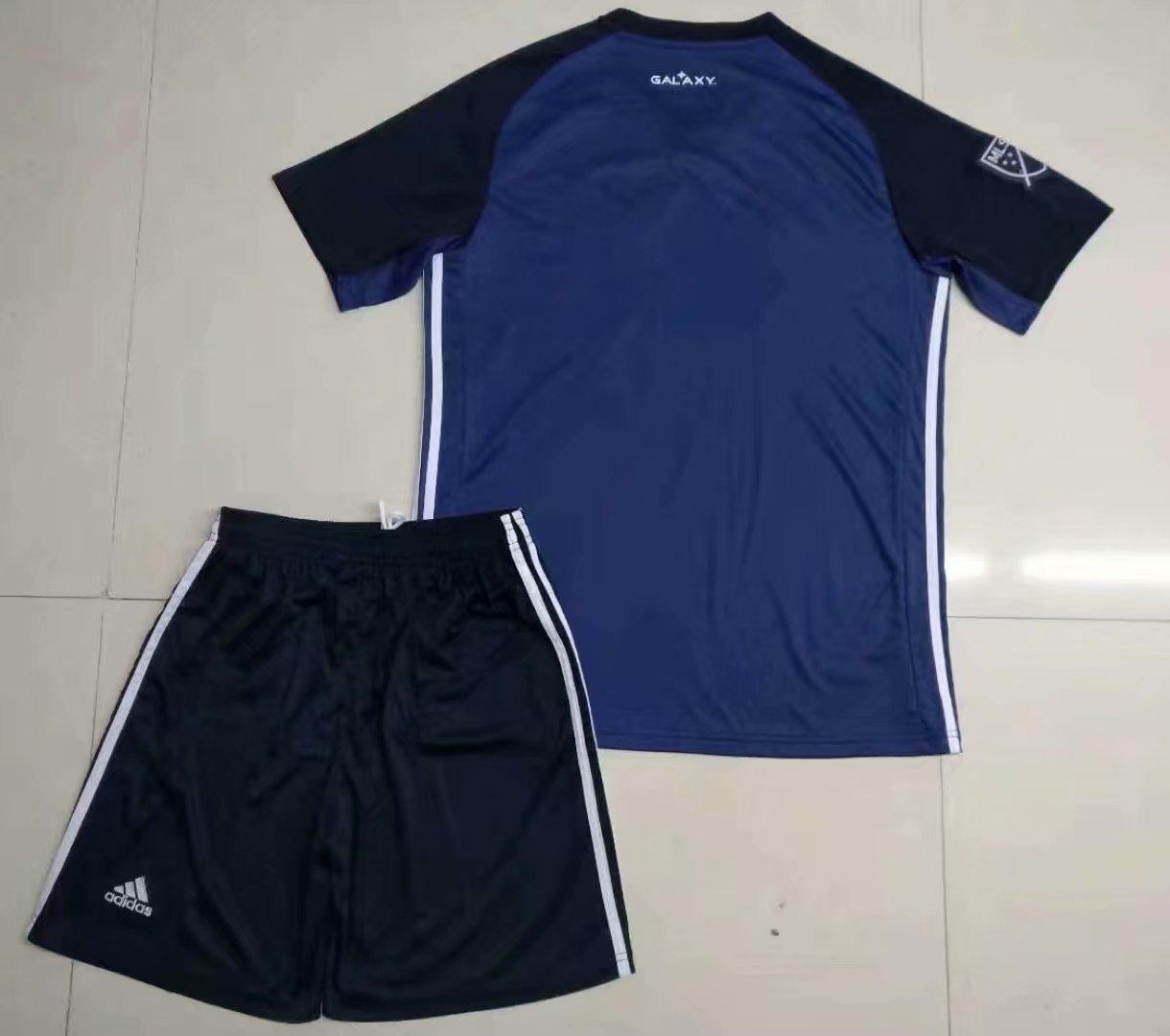 e90a02128 19-20 Adult LA Galaxy Away Soccer Jersey Football Uniforms Blue Soccer Kits  Item NO  577648