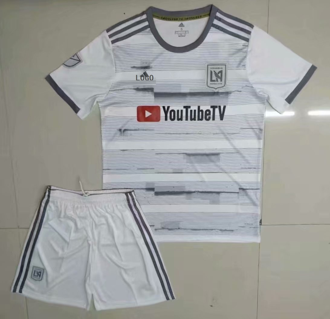 419c312a0bc 19-20 Men Los Angeles FC White Soccer Jersey Set Football Uniforms