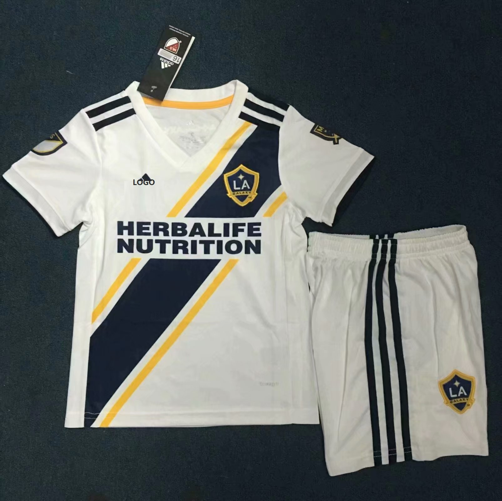 1b5b5244a 2019-20 Kids LA GALAXY Home Jersey Kits Soccer Uniforms