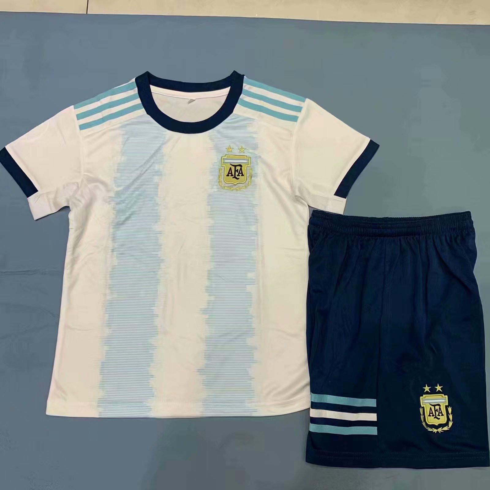 c4fd81a8690 2019 20 Kids Argentina Copa America Home Soccer Jersey Uniforms