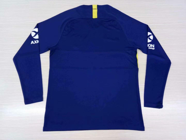 big sale 19f27 ff628 2019-20 Adult Boca Juniors Home Blue Long Sleeve Soccer Jersey -Thai Quality
