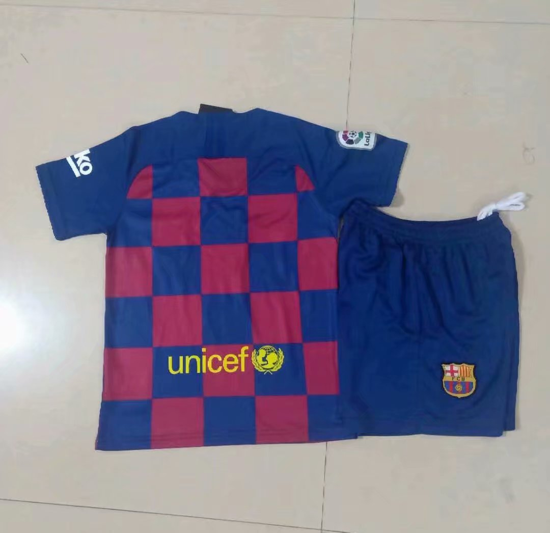 new product f2041 825ce 2019/20 Kids Barcelona Soccer Uniform Children Football Kits With Logo