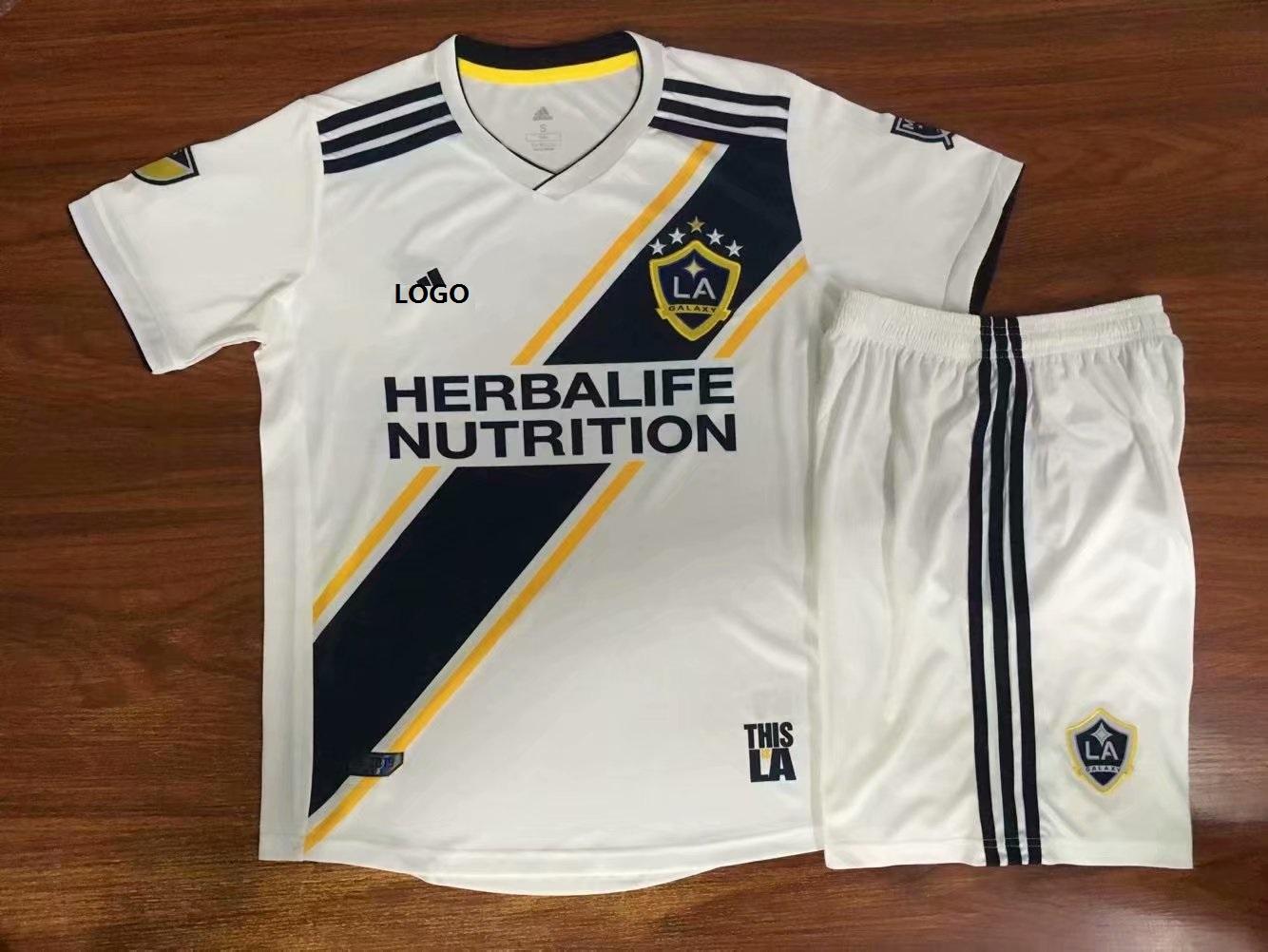 b74d36260ae 2019 -20 Kids LA Galaxy FC Home Soccer Jersey Football Uniforms