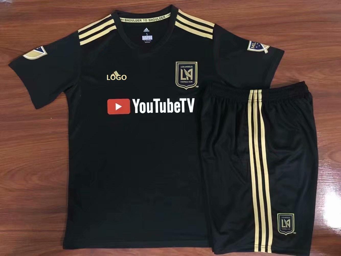 02955840 2019-20 Kids Los Angeles FC Black Soccer Jersey Football Uniforms