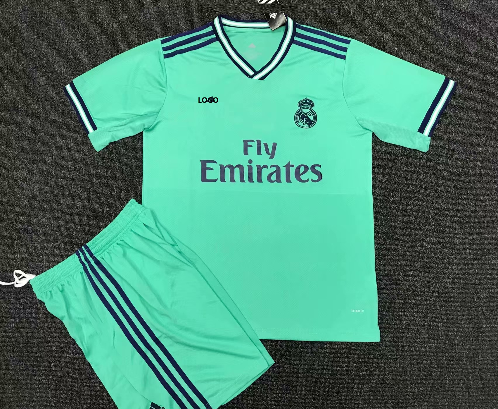 9edb49f7abe 2019 20 AAA Quality Adult Real Madrid Away Soccer Uniforms Green Man  Football Kits Custom Name Number
