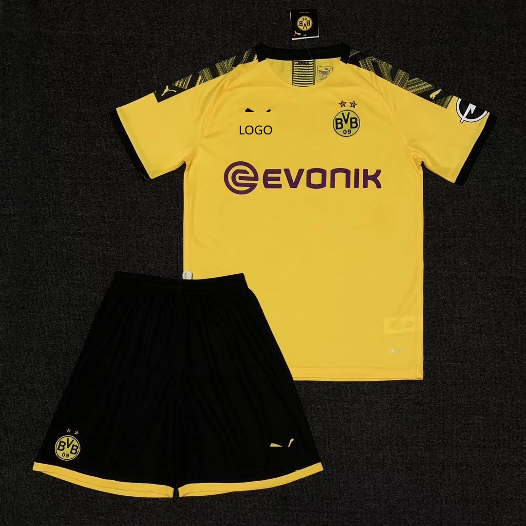 eed1909caf4 19/20 AAA Quality Men Borussia Dortmund Away yellow soccer uniforms  Football kits customize name number