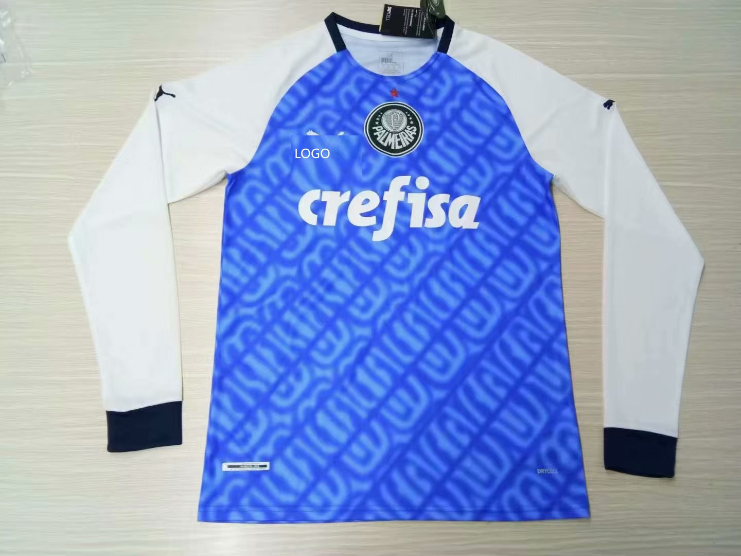 281a7b9f5bd 2019 20 Adult Palmeiras blue Thai Quality Long sleeve Soccer Jersey  customize name number
