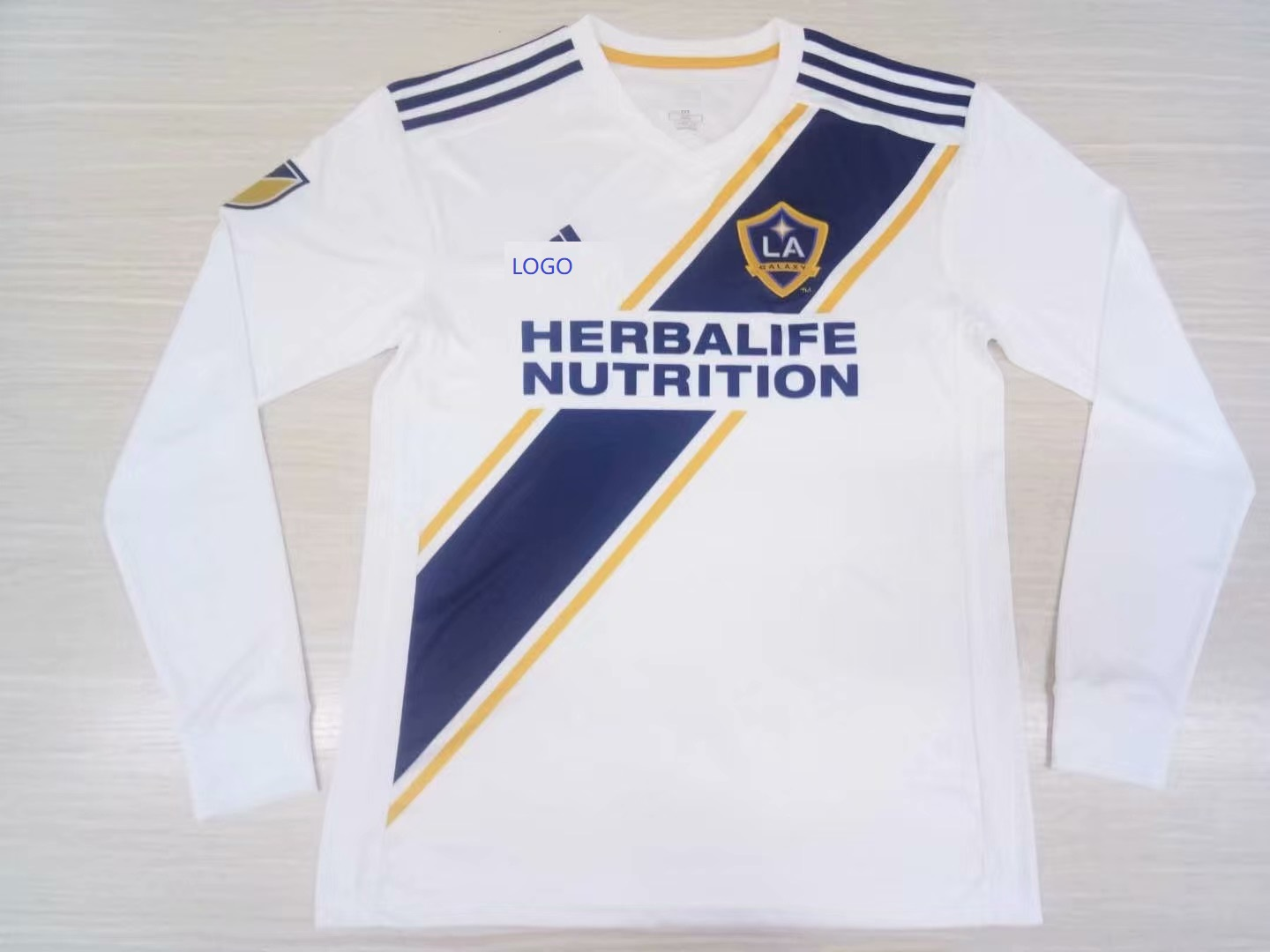 the best attitude f5646 7386e 2019/20 Men LA Galaxy Home Thai Quanlity Long sleeve Soccer jersey