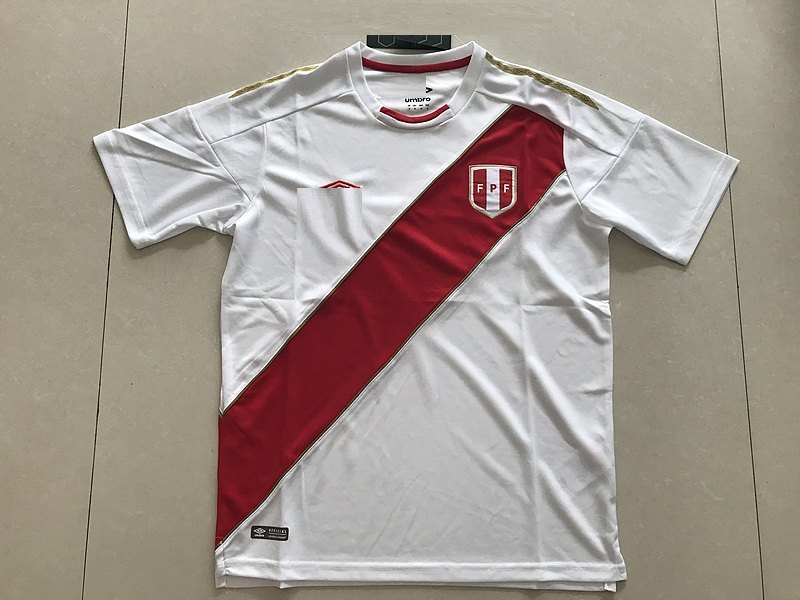 66bcc3cb07a 18-19 Peru Home Red Soccer jersey-Thai Quality Thai version Soccer jersey  customize name number