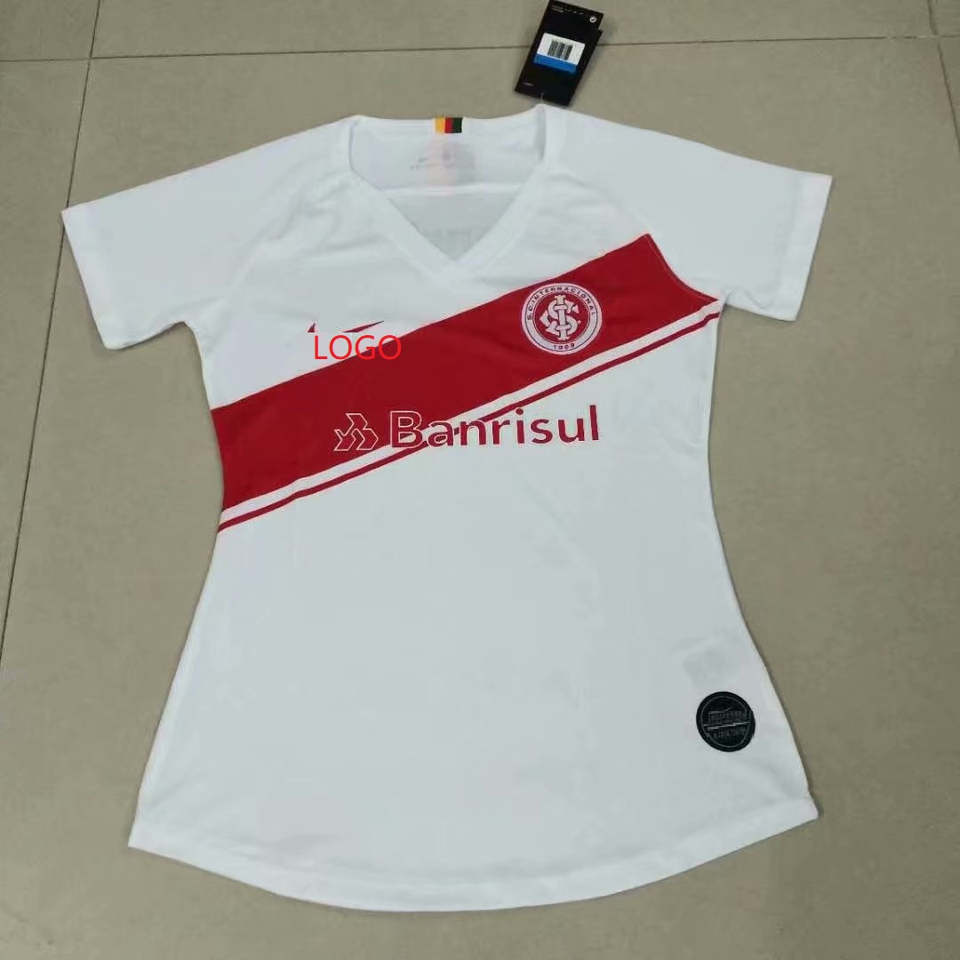 d1125c28f99 19-20 Women Brazil International whire Thai quality Soccer jersey customize  name number
