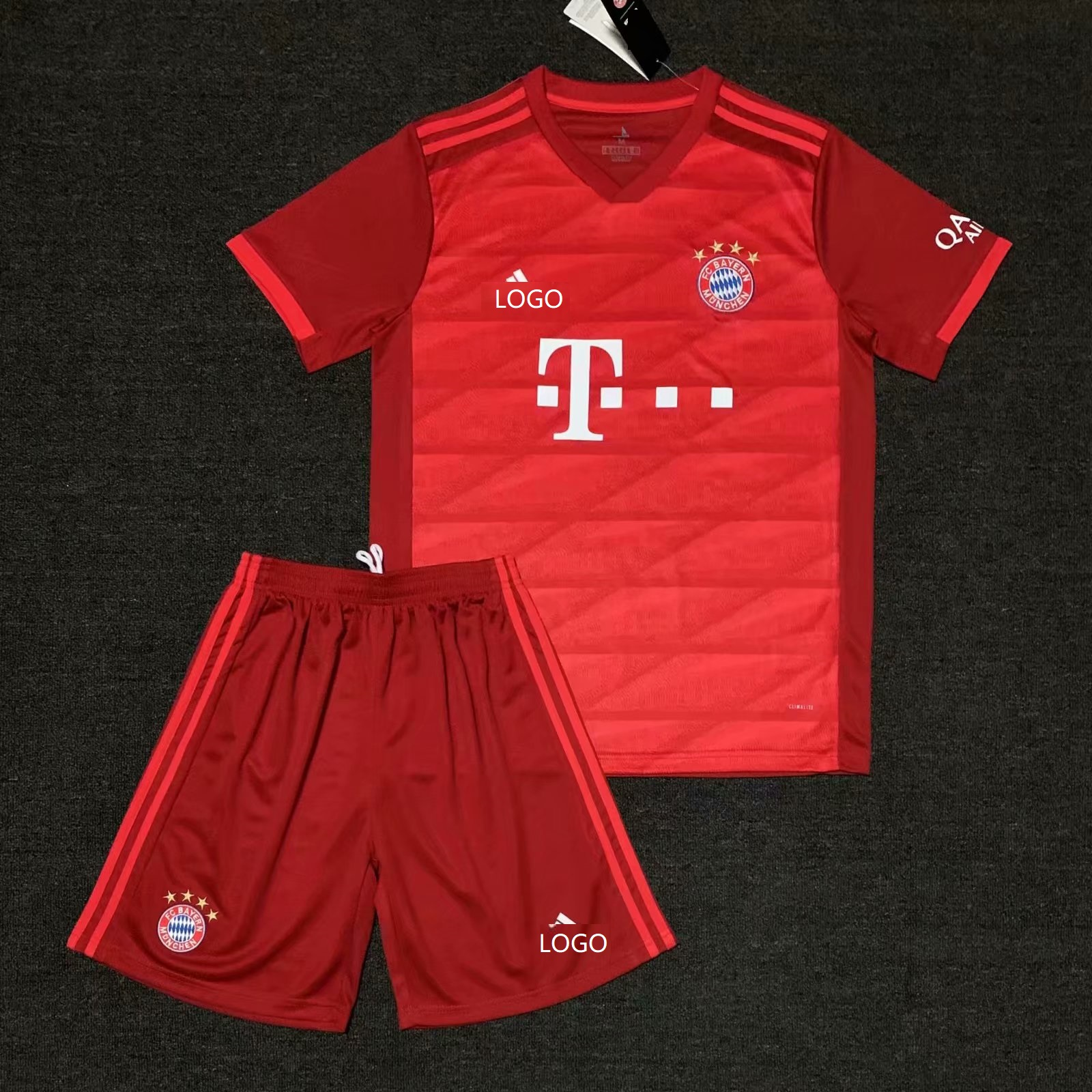 4166cd61 2019/20 AAA Quality Bayern red Adult Soccer uniforms customize name number