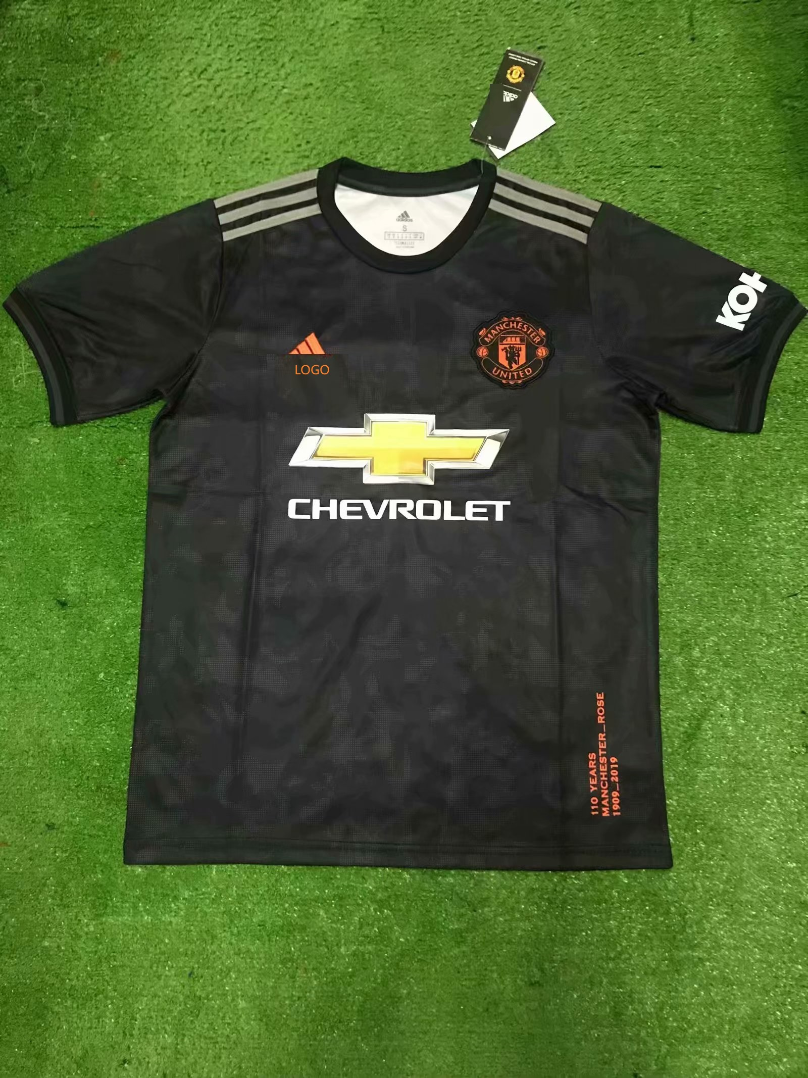 new products 896a3 f0531 19/20 Adult Manchester United third away balck fan version Soccer jersey
