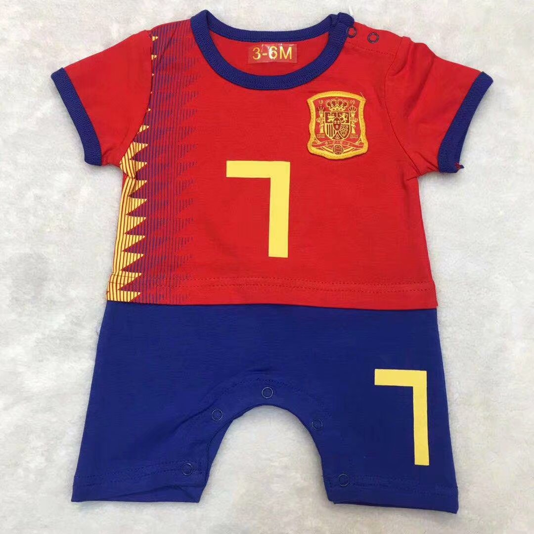 4510fe41197 2019/20 kid Spain soccer baby romper customize name number