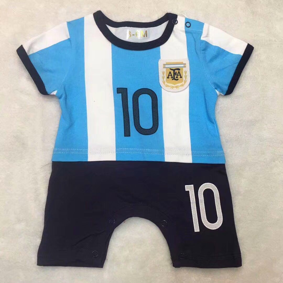 b59b17819c4 2019/20 chidren Argentina soccer baby romper customize name number