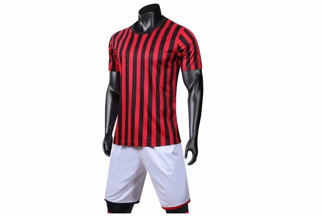 5289af0f6 19-20 AAA Quality men blank styles stripe Soccer uniforms personalized