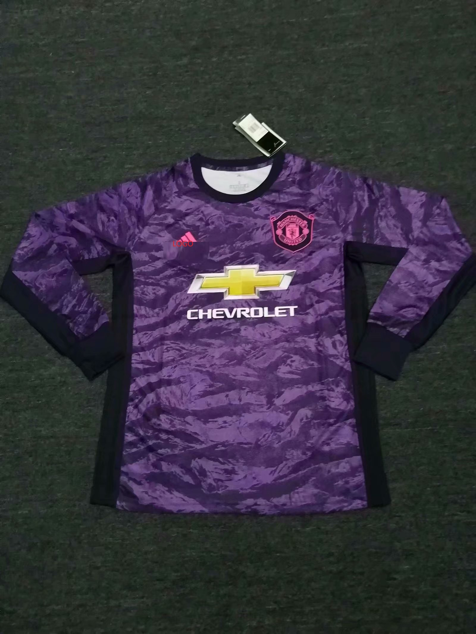 quality design 1206f f9253 19-20 Adult fan version Manchester United Goalkeeper long sleeve Soceer  jersey