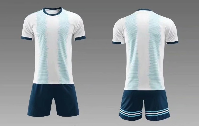 1d0948225b5 2019/20 AAA Quality children Blank version light blue kid Soccer uniforms  customize name number