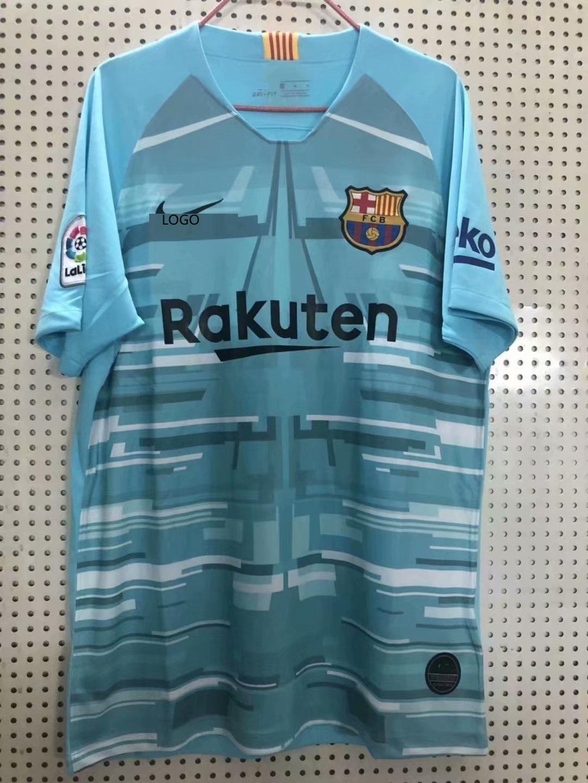 new style 13058 be443 2019/20 men fan version Barcelona blue Soccer jersey