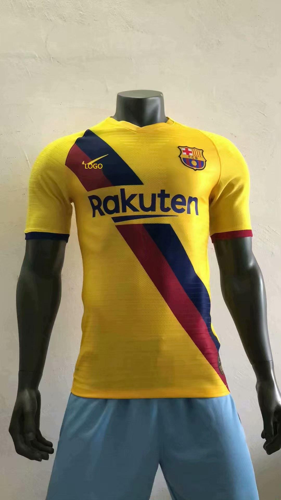 best cheap 0b524 f8049 2019/20 Adult player version Barcelona away yellow soccer jersey