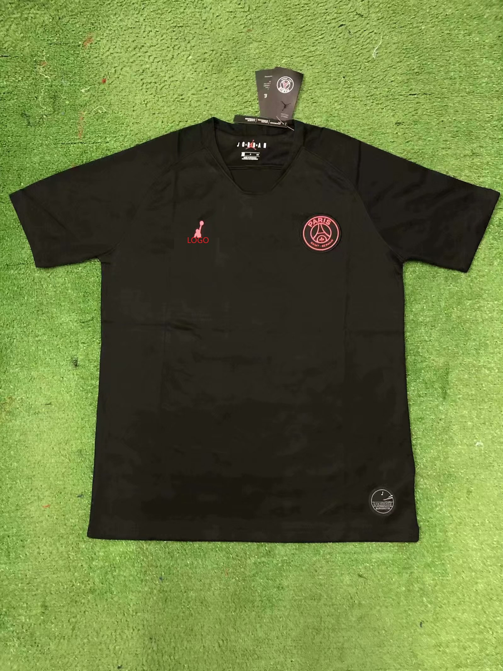 buy popular fcda2 4154e 19/20 men thai version PSG Jordan pre-match balck soccer/football  jersey/shirt