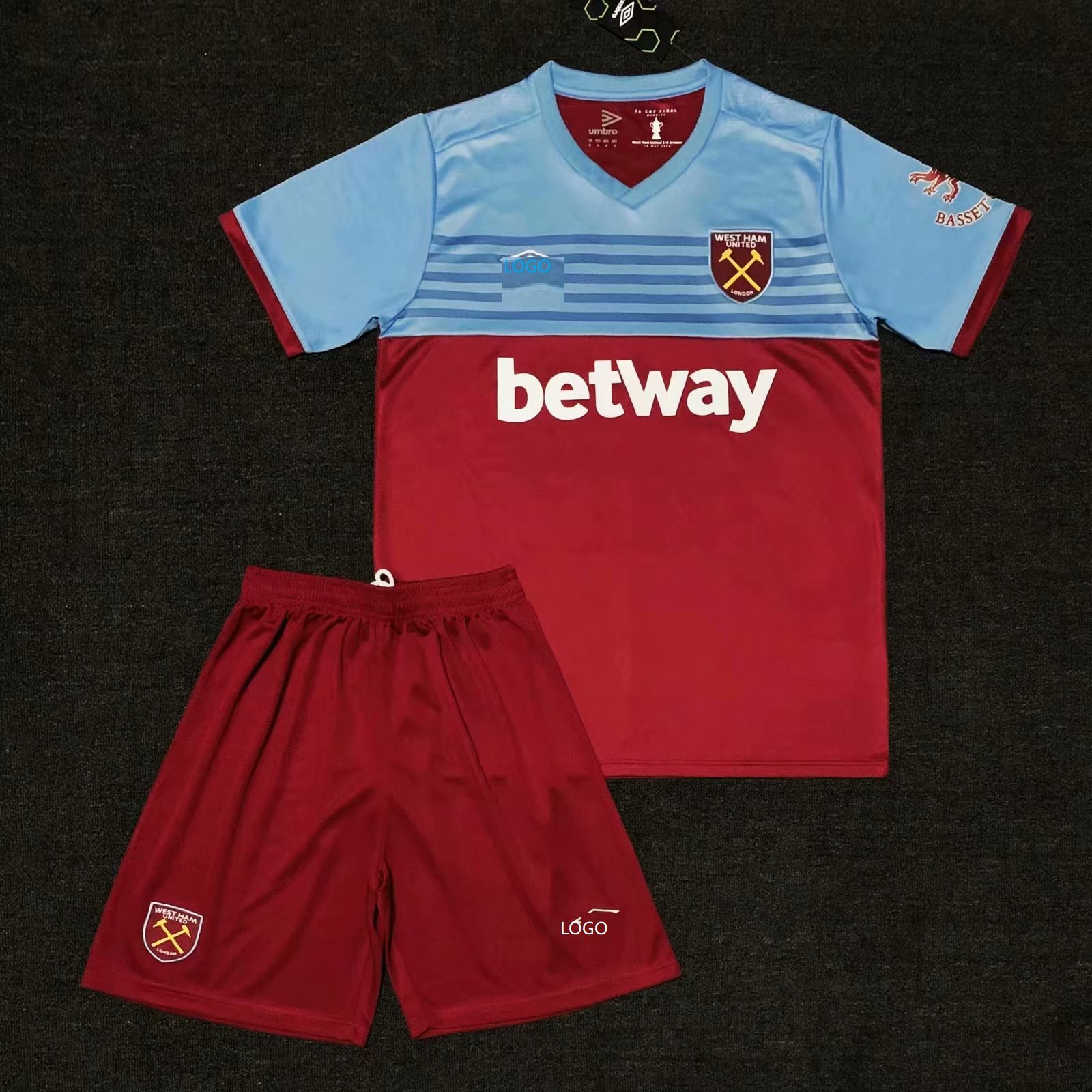 buy online a7797 cc436 2019/20 Adult thai quality West Ham home soccer/football uniforms/kits