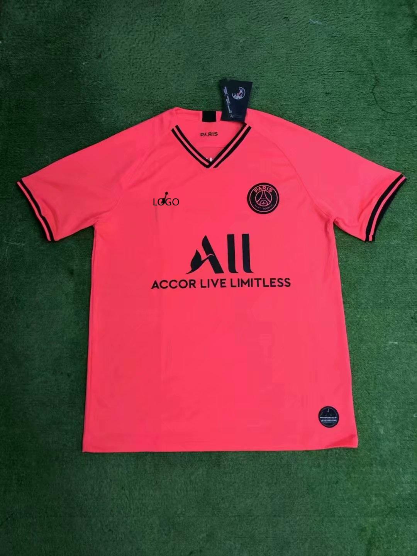 pretty nice b441d aff81 2019/20 men fan version psg Jordan pink soccer/football jersey